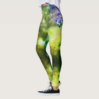 Alien Fog Mardi Gras Leggings