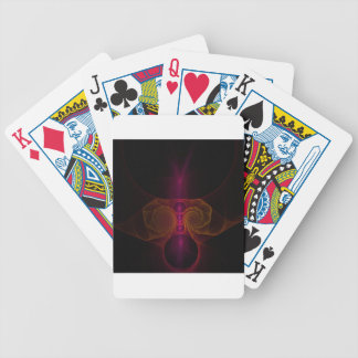 Alien fractal bicycle playing cards