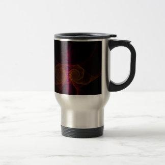 Alien fractal travel mug