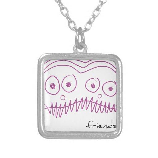 Alien friend personalized necklace