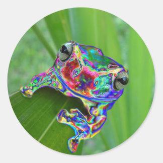 Alien Frog Classic Round Sticker