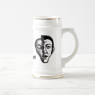 Alien funny beer mug