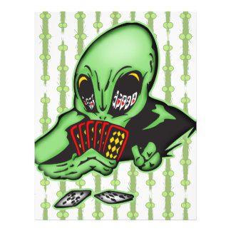 Alien Gambler 21.5 Cm X 28 Cm Flyer