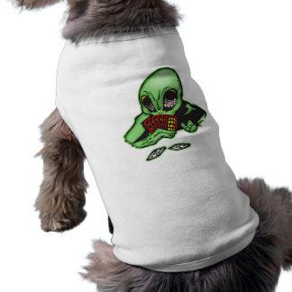 Alien Gambler Sleeveless Dog Shirt