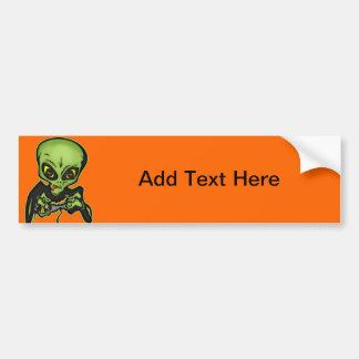 Alien Gamer Bumper Sticker
