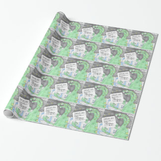 Alien gets a Ticket Wrapping Paper