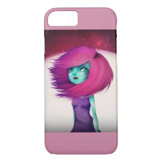 Alien Girl colourful iPhone 7 case