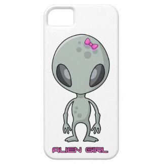 Alien Girl Grey and Pink iPhone 5 Case