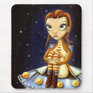 Alien girl mouse pad
