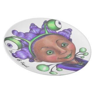 Alien Girl Plate