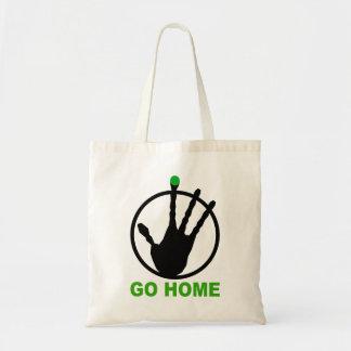 Alien go home tote bag