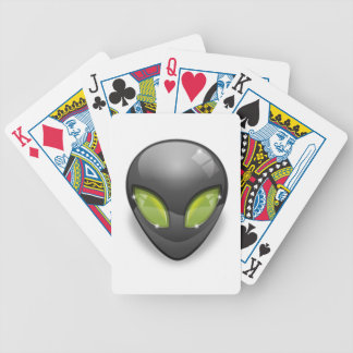 Alien Gray Design#2 Bicycle Playing Cards