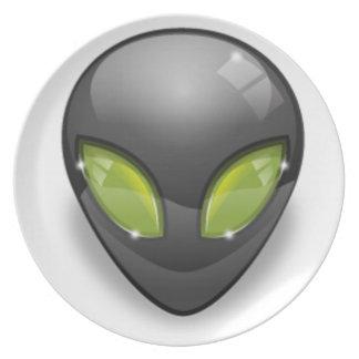 Alien Gray Design#2 Plate