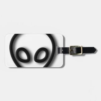 Alien Gray Design Luggage Tag