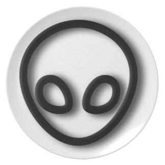 Alien Gray Design Plate