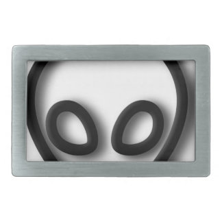Alien Gray Design Rectangular Belt Buckle