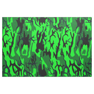Alien Green Camo Fabric
