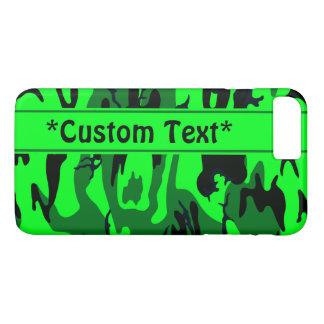 Alien Green Camo w/ Custom Text iPhone 7 Plus Case