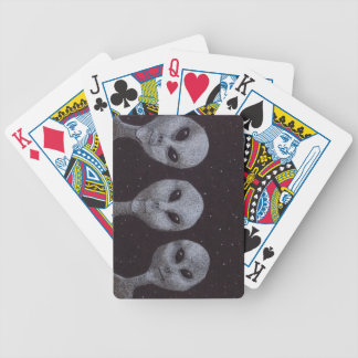 Alien Greys Bicycle Playing Cards