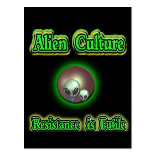 alien greys postcard