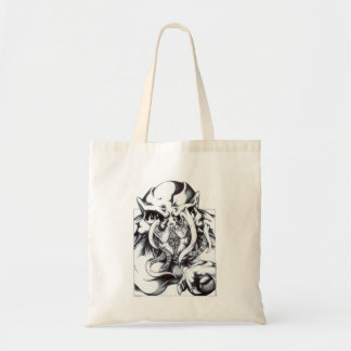 Alien Grin Tote Bag