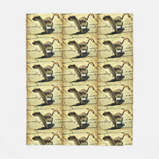 Alien Ground Squirrel Medium Fleece Blanket