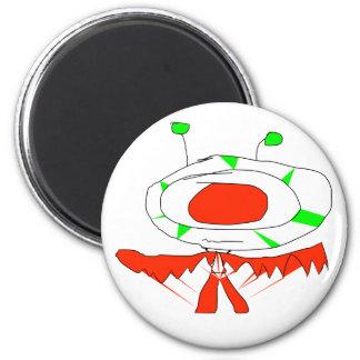 alien guy 6 cm round magnet