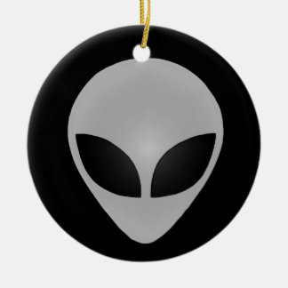 Alien Head Ceramic Ornament