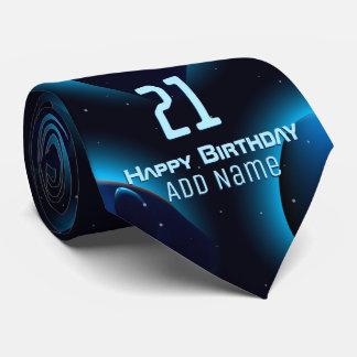 Alien head in space tie