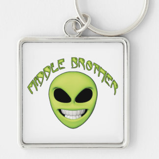 Alien Head Middle Brother Key Ring