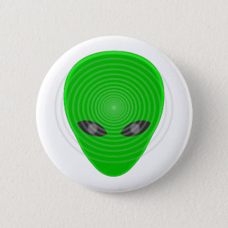 Alien Head Mind Control 6 Cm Round Badge
