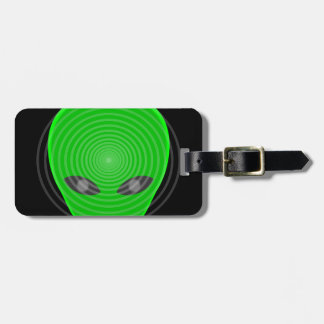 Alien Head Mind Control Luggage Tag