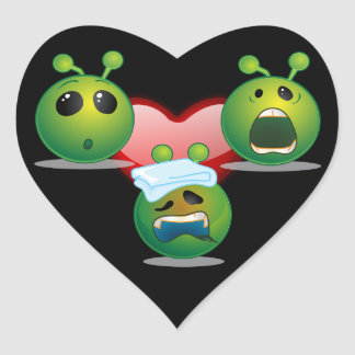 Alien Heart Sticker