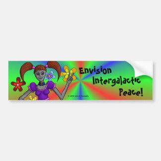 Alien Hippy Bumper Sticker