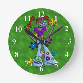 Alien Hippy Wall Clocks