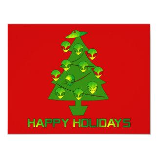 Alien Holiday Tree 4.25x5.5 Paper Invitation Card