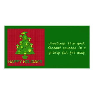 Alien Holiday Tree Photo Card