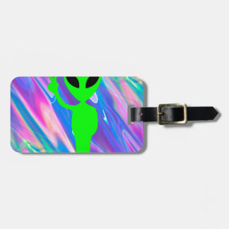 alien hologram bag tag