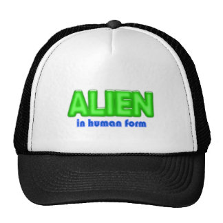 ALIEN Human Form Halloween Costume Design Mesh Hat