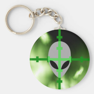 Alien Hunter Basic Round Button Key Ring