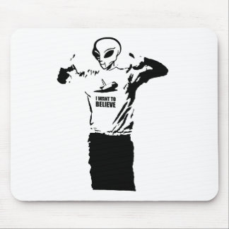 Alien - I want to believe Mouse Pads