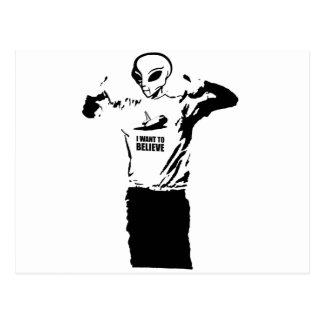 Alien - I want to believe Postcard