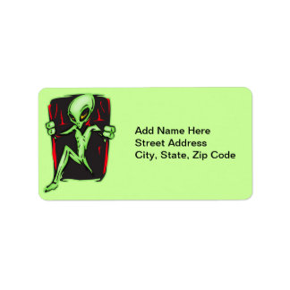 Alien Invades Your Home Address Label