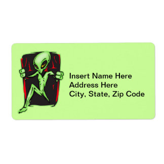 Alien Invades Your Home Shipping Label