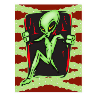 Alien Invades Your Home Postcard