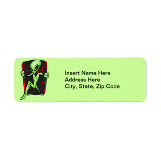 Alien Invades Your Home Return Address Label