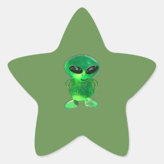 Alien Jewel Star Sticker