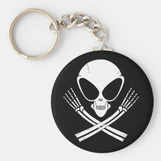 alien jolly rodger key ring