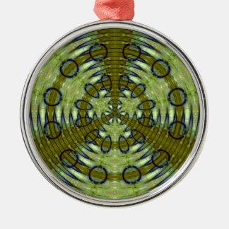 Alien Jungle Metal Ornament