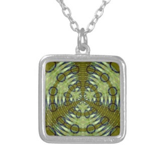 Alien Jungle Silver Plated Necklace